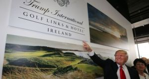 Donald Trump at the opening of the Doonbeg golf links and hotel in Co Clare. Photograph: PA