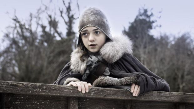 End of an Arya: Maisie Williams in the first season of Game of Thrones; the world's biggest TV show has only six more episodes to come