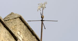Kevin Street Garda station weathervane. Photograph: Dave Meehan