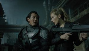 Will Yun Lee  and Dichen Lachman in Netflix's 'Altered Carbon'