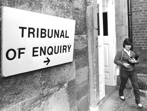KERRY BABIES: Joanne Hayes leaves the tribunal of inquiry into the Kerry Babies case in June 1985. Ms Hayes received an apology over the affair this week after fresh DNA evidence came to light. File photograph: Matt Kavanagh/The Irish Times