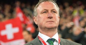 Northern Ireland manager Michael O'Neill: he has been impressed with the speed and scale of the IFA's offer.  Photograph: EPA/Jean-Christophe Bott