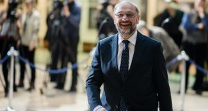 "Martin Schulz, leader of the Social Democratic Party: he and his grand coalition are facing a revolt from Kevin Kühnert (28), dubbed ""babyface"" by a German tabloid this week. Photograph: Clemens Bilan/EPA"