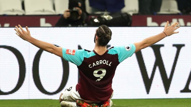 Andy Carroll represents something else tactically and culturally, an entirely different notion of what the game can be. Photograph: Catherine Ivill/Getty Images
