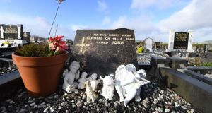 Kerry babies case: Baby John's grave, at Holy Cross cemetery in Cahersiveen. Photograph: Domnick Walsh