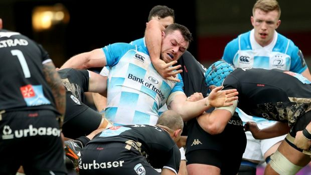 Cian Healy in action against Montpellier during Saturday's clash at the Altrad Stadium. Photograph: James Crombie/Inpho