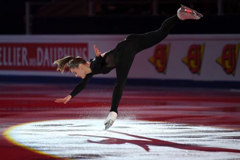 GALA EXHIBITION: Belgium's Loena Hendrickx performs during the Gala Exhibition at the ISU European Figure Skating Championships in Moscow. Photograph: Yuri Kadobnov/AFP/Getty Images