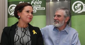 Sinn Féin: expect much talk of a united Ireland as Mary Lou McDonald looks to maintain the unity of the movement that Gerry Adams has led since 1983. Photograph: Niall Carson/PA