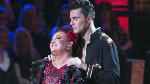Norah Casey the moment she was voted off Dancing with the Stars. Photograph: Kyran O'Brien/RTÉ