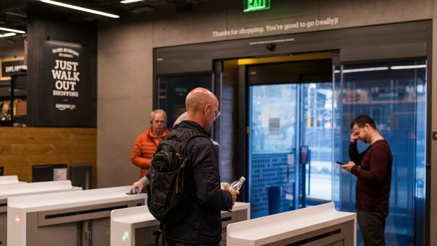 The technology inside the new convenience store, opening Jan. 22, 2018 in Seattle, enables a shopping experience like no other – including no checkout lines. (Kyle Johnson/The New York Times)
