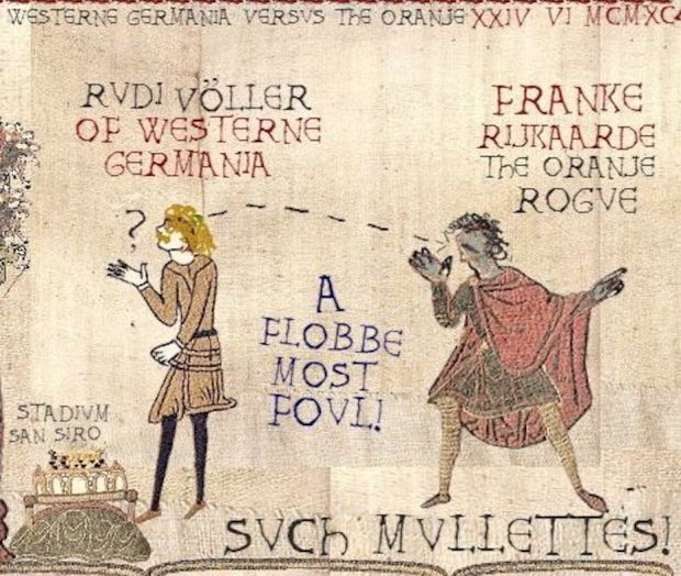 A slightly ... different take on the Bayeux Tapestry.