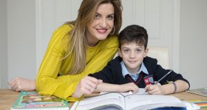 'Being completely honest, we all hate homework. We know it has to be done but it has a big impact,' says Sarah Jayne Tobin (above) with her son Nathan Fanagan. Photograph: Dave Meehan
