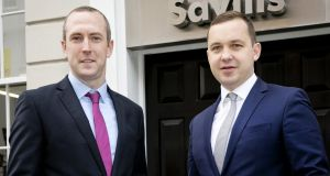 Johnny Hanrahan with Mark Reynolds of Savills. Photograph:  Chris Bellew /Fennell Photography