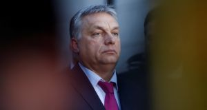 "The views of Hungarian prime minister Viktor Orbán, who sees liberal values as inimical to success in ""the great global race"", a race in which Russia, China and India are identified as among the strongest contenders, constitutes a clear challenge to European values. Photograph:  Michaela Rehle/Reuters"