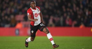 Southampton striker Michael Obafemi in action during the Premier League game against Tottenham Hotspur at St Mary's Stadium on Sunday. Photograph: Mike Hewitt/Getty Images
