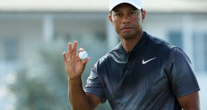 Tiger Woods: seems to have overcome his injury problems and is ready to return to the PGA Tour this week. Photograph:  Mike Ehrmann/Getty Images