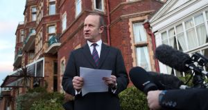 Henry Bolton announcing his decision not to resign as Ukip leader in Folkestone on Monday. Photograph: Gareth Fuller/PA Wire