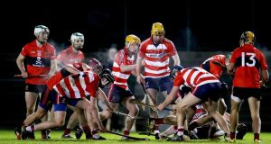 CIT v UCC in the Fitzgibbon Cup last week. Waterford manager Derek McGrath has called for the third level competitions to be ring-fenced. Photograph: Tommy Dickson/Inpho