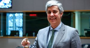 Portuguese finance minister Mario Centeno called for candidates to replace European Central Bank vice-president Vitor Constancio, whose term expires in May. Photograph: Dario Pignatelli/Bloomberg