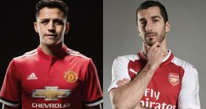 Alexis Sànchez has completed his move to Manchester United with Henrikh Mkhitaryan joining Arsenal. Photograph: Getty Images
