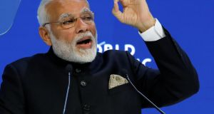 Indian prime minister Narendra Modi: global leaders should show solidarity in the face of challenges such as climate change.