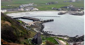 The harbour and jetty area on Rathlin Island off Co Antrim, which is experiencing a baby boom. Photograph: Bryan O'Brien