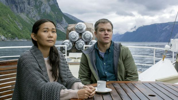 Matt Damon and Hong Chau in Downsizing (2017). Photograph: Paramount Pictures
