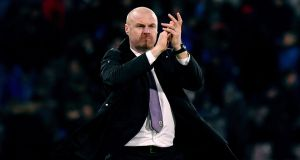 Sean Dyche has signed a new long-term contract as Burnley manager. Photograph:  Anthony Devlin/PA Wire