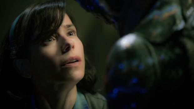 "This image released by Fox Searchlight Pictures shows Sally Hawkins, left, and Doug Jones in a scene from the film ""The Shape of Water."" The film was nominated for an Oscar for best picture on Tuesday, Jan. 23, 2018. The 90th Oscars will air live on ABC on Sunday, March 4. (Kerry Hayes/Fox Searchlight Pictures via AP)"