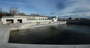 The Baths, at Clontarf, Dublin 3, which is to open to the public next month. Photograph: Dara Mac Dónaill