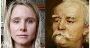 Actor Kristen Bell is a dead ringer for conductor August Manns. Image: Instragram
