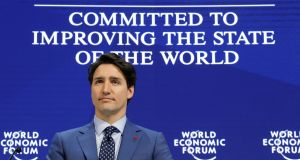 Canada's prime minister Justin Trudeau attends the World Economic Forum in Davos, Switzerland.