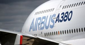 Airbus, one of the companies supplied by Moyola.  Photograph  PA Wire