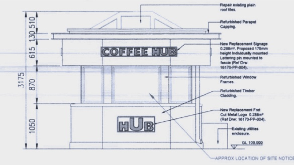 "A request for permission to install new branding in fret metal at the Ballsbridge kiosk site suggests the Butler brothers are not looking to set up another Starbucks at the site, but rather a ""Coffee Hub""."