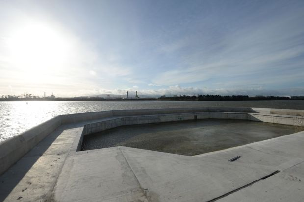 A view of the refurbished Clontarf Baths. Photograph: Dara Mac Dónaill/The Irish Times