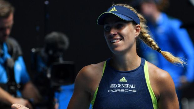 Germany's Angelique Kerber is through to the last four of the Australian Open. Photograph: Saeed Khan/AFP