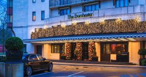 The Dorchester Hotel in London, where hostesses say they were groped and sexually harrassed at a men-only charity dinner last week.