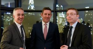 John Phelan, national director, HBAN; Feargall Kenny, Digital Irish Angels Syndicate; and Ciarán Madden, Consul General of Ireland in New York