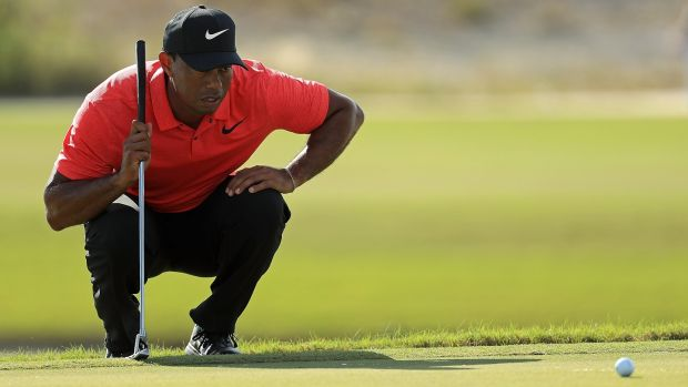 Tiger Woods makes his long-awaited return to competitive action this week. Photograph: Mike Ehrmann/Getty
