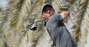 Rory McIlroy made an encouraging return to action in Abu Dhabi. Photograph: David Cannon/Getty