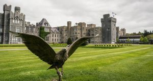 Ashford Castle sits on 365 acres overlooking Lough Corrib. Photograph: Keith Heneghan/Phocus