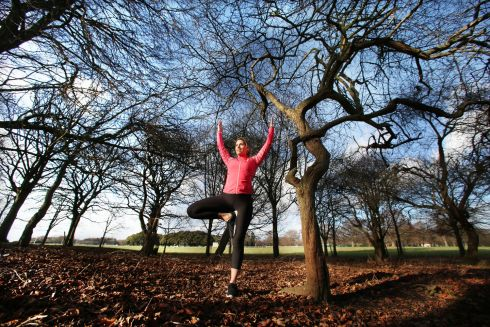 Pilates expert Hayley Killen  pictured today at the launch of Outdoor Revolution, which will be  Irelands largest outdoor sports, health and wellness event and is taking place 24th and 25th March in the RDS, Dublin. Photo: Leon Farrell/Photocall Ireland.