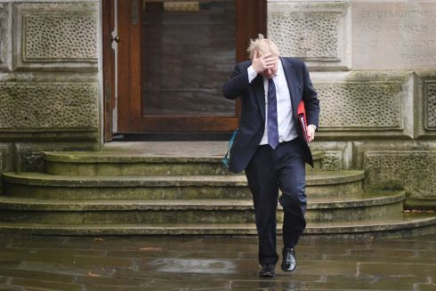 Foreign Secretary Boris Johnson arriving at 10 Downing Street, London, for a Cabinet meeting. . Photo : Stefan Rousseau/PA Wire