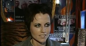 A still from a TG4 interview with the late Dolores O'Riordan who was a student at Laurel Hill Colaiste FCJ where Irish is the medium of instruction.