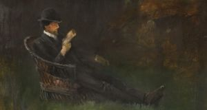 John Butler Yeats,  WB Yeats Reading in the Garden, Bedford Park, c.1888/89