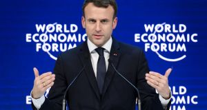 Emmanuel Macron: 'France is back. France is back at the core of Europe.' Photograph: Getty