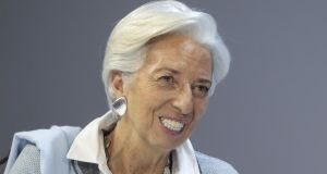 IMF managing director Christine Lagarde called for tax and labour-market reforms to narrow the income gap between young people and older people. Photograph: Bloomberg