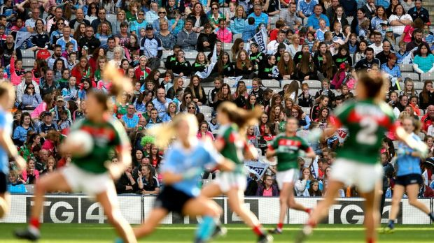 The challenge now for the women's game is to build on the promise of last year, the highlight being the record attendance of 46,286 at the All-Ireland final between Dublin and Mayo. Photograph: Ryan Byrne/Inpho