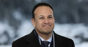 Leo Varadkar pictured during a Bloomberg Television interview on day three of the World Economic Forum (WEF) in Davos, Switzerland