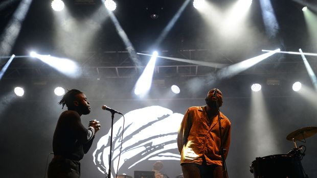 Young Fathers at the Electric Arena at Electric Picnic 2017 in Stradbally.Photograph: Dave Meehan/The Irish times